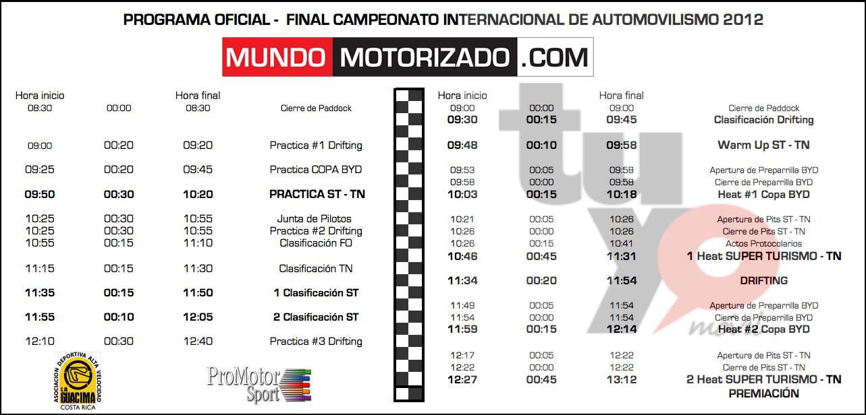 Horario Y Programa Del Motorshow Final De Temporada Www