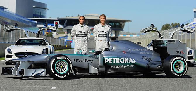 Mercedes presenta el 'W04'