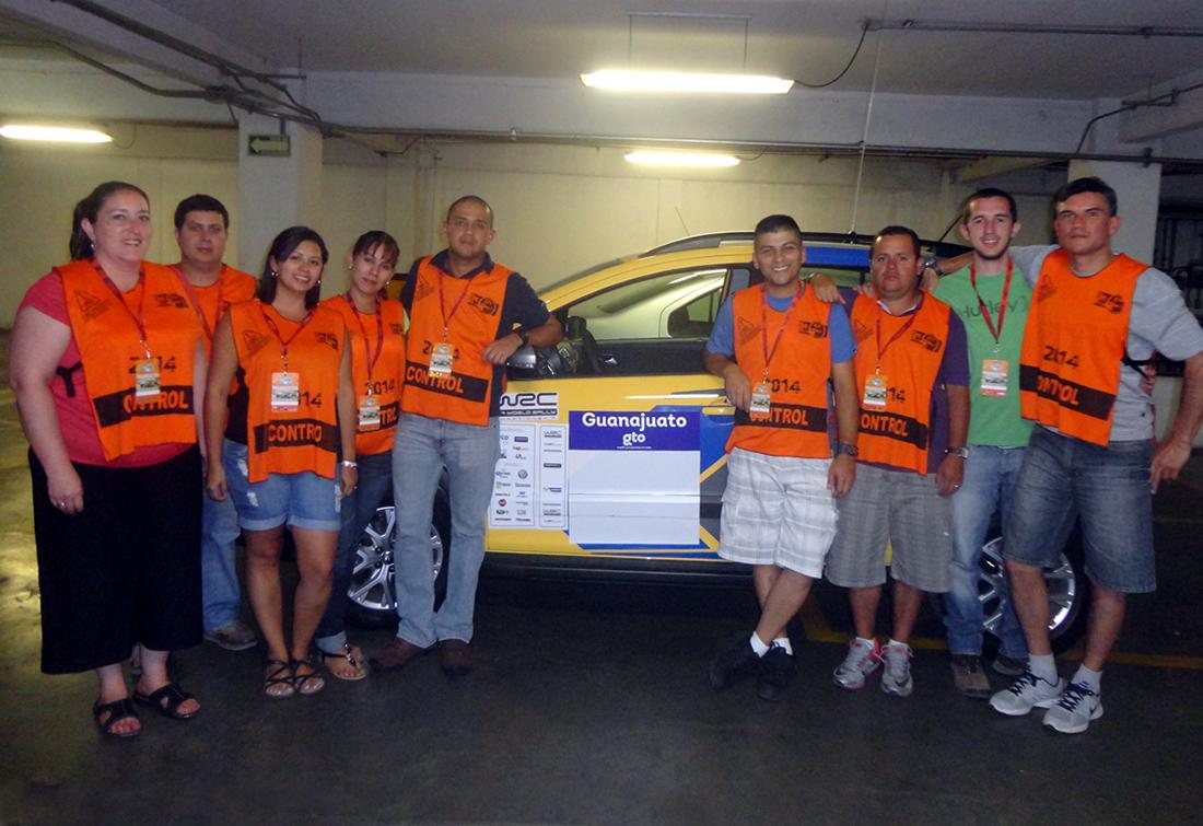 Oficiales costarricenses trabajan en el WRC México