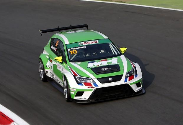 Hernández terminó 12 en segunda carrera de la Seat León Eurocup en Monza