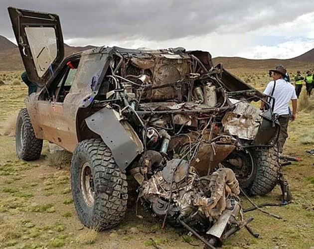 Video, doble espectacular accidente en el Rally Dakar