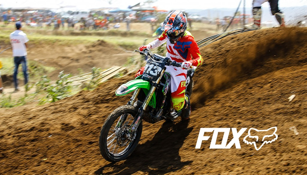Justin Alvarado ganador de la MX2.  ( foto acalderon )