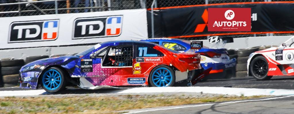 Así terminó el auto de Felipe Vargas la Copa Hankook