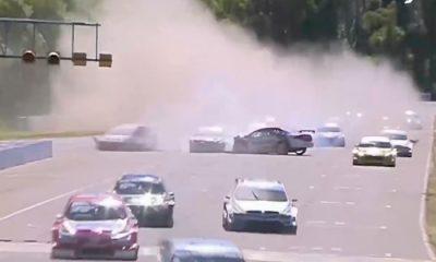 Fuerte accidente en la carrera clasificatoria en General Roca