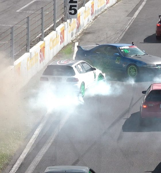 Street Racing League : video accidente en salida heat final