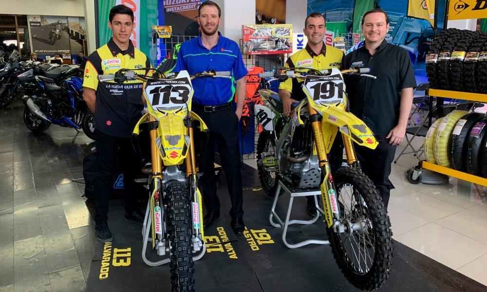 Suzuki presentó su equipo de motocross y Copa Gixxer