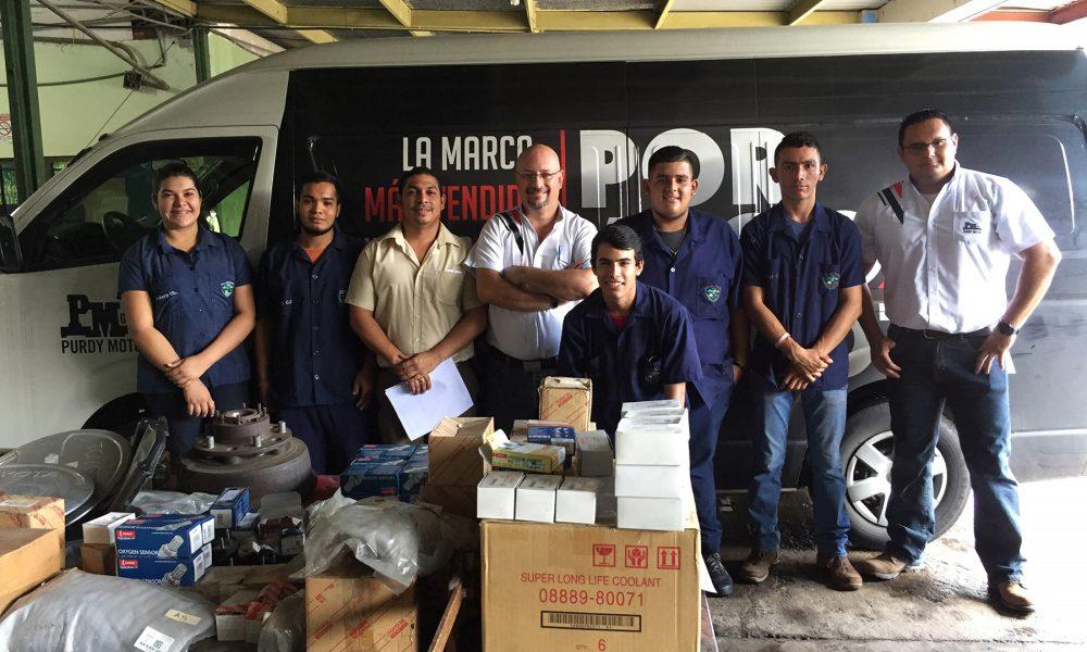 Grupo Purdy Motor donará repuestos nuevos a colegios técnicos