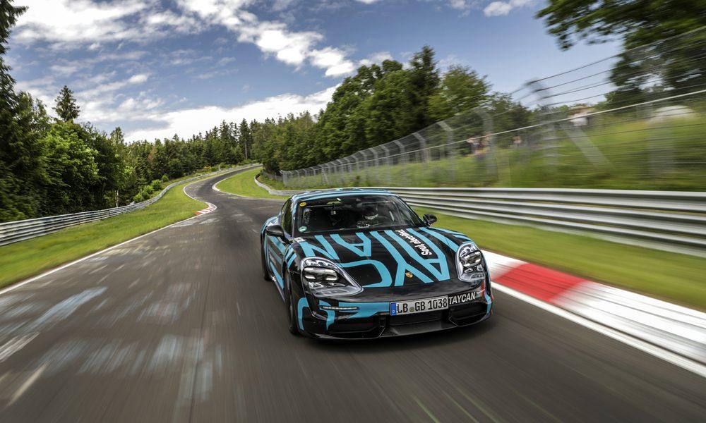El nuevo Porsche Taycan establece un récord en Nürburgring-Nordschleife