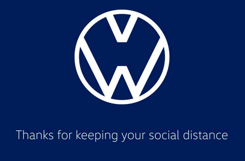 Volkswagen y Audi modifican sus logos para alentar el distanciamiento social