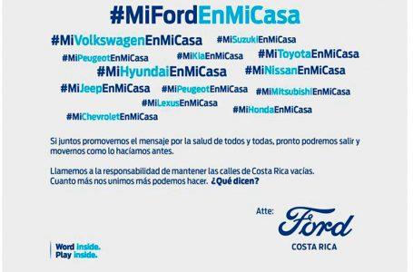 Ford llama a todas las marcas de vehículos a promover respeto por la restricción vehicular sanitaria